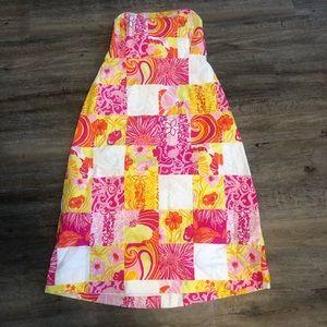 Vintage White Label Lilly Pulitzer patchwork dress